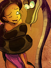 Shanti and Kaa by Tease comix