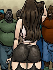 Slut for ugly black men by Illustrated interracial